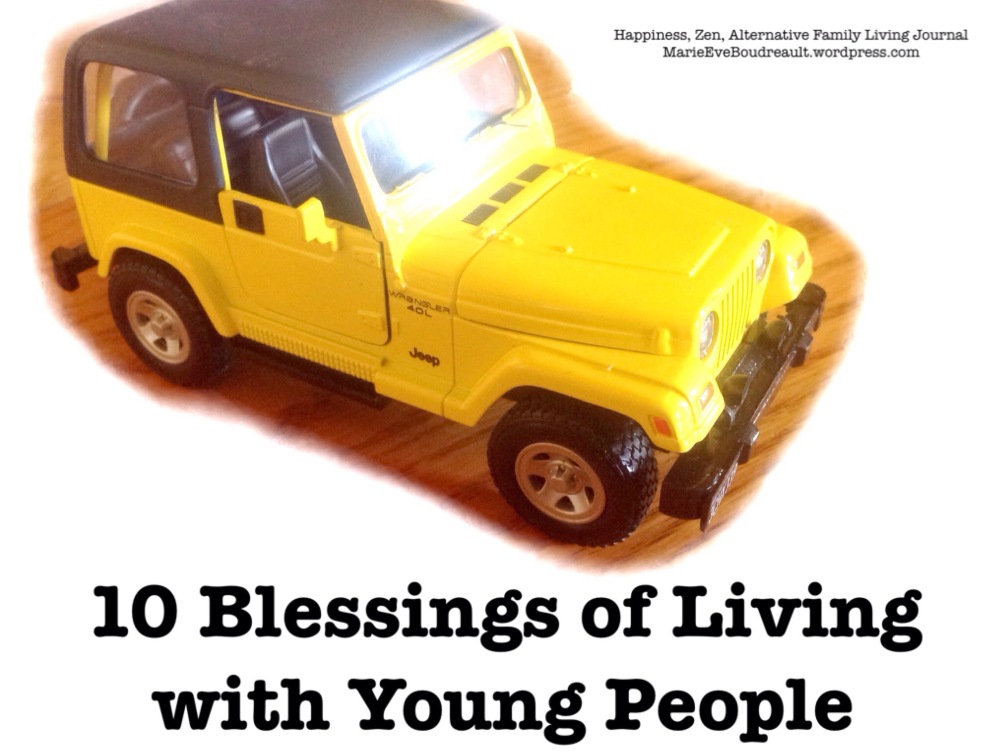 Living with Children, a Real Blessing 10 great things young people can teach us marie eve Boudreault happiness zen lifestyle alternative family living author book blog